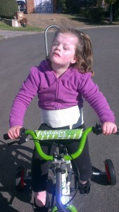 Keira with her new bike